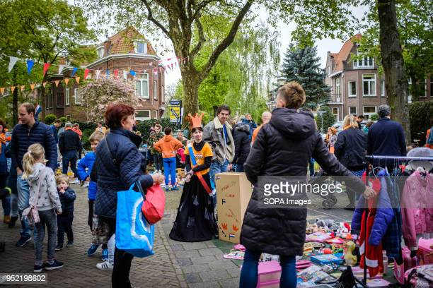 Flea market on King's Day in city of Rijswijk in Netherlands Koningsdag or King's Day is a national holiday in the Kingdom of the Netherlands...