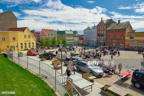 flea market on the square in Svendborg