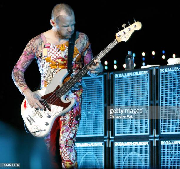 Flea of Red Hot Chili Peppers during KROQ Weenie Roast Y Fiesta 2006 Show at Verizon Wireless Amphitheater in Irvine California United States