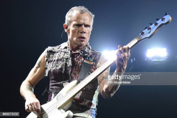 Flea of Red Hot Chili Peppers performs during Band Together 2 at Bill Graham Civic Auditorium on December 14 2017 in San Francisco California