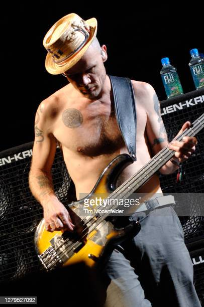 Flea of Red Hot Chili Peppers performs during Coachella 2007 at the Empire Polo Fields on April 28, 2007 in Indio, California.
