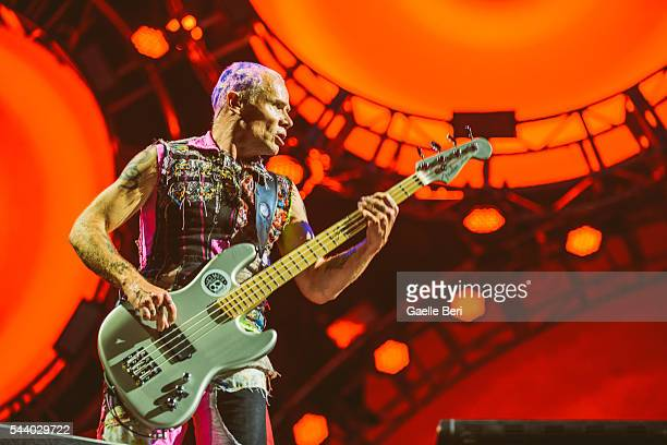 Flea of Red Hot Chili Peppers performs live at Open'er Festival at Gdynia Kosakowo Airport on June 30 2016 in Gdynia Poland