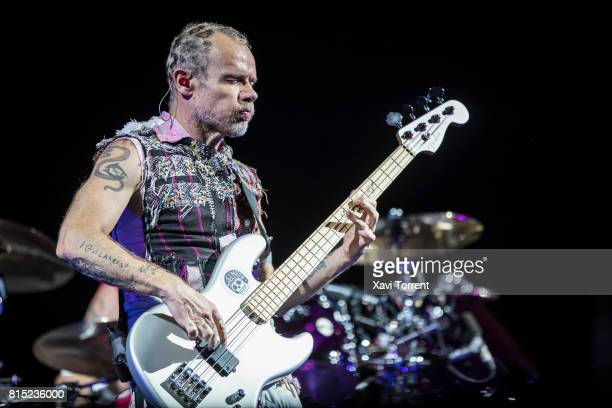 Flea of Red Hot Chilli Peppers performs in concert during day 3 of Festival Internacional de Benicassim on July 15 2017 in Benicassim Spain