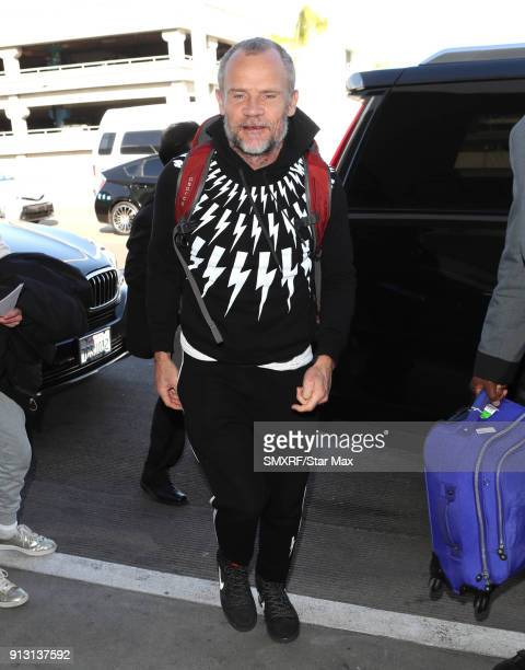 Flea of 'The Red Hot Chili Peppers' is seen on February 1 2018 in Los Angeles CA