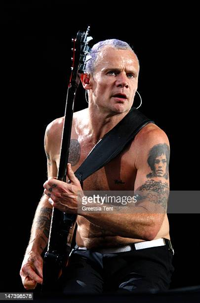 Flea of the Red Hot Chili Peppers performs at Goffertpark on June 28 2012 in Nijmegen Netherlands