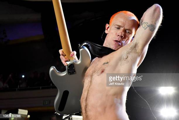 Flea of the Red Hot Chili Peppers performs at Malibu Love Sesh Benefit Concert for victims of the Malibu Fires at the Hollywood Palladium on January...