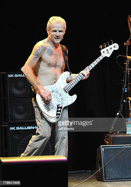Flea of the Red Hot Chili Peppers performs at The 5th Annual MusiCares MAP Fund Benefit Concert at Club Nokia on May 8 2009 in Los Angeles California