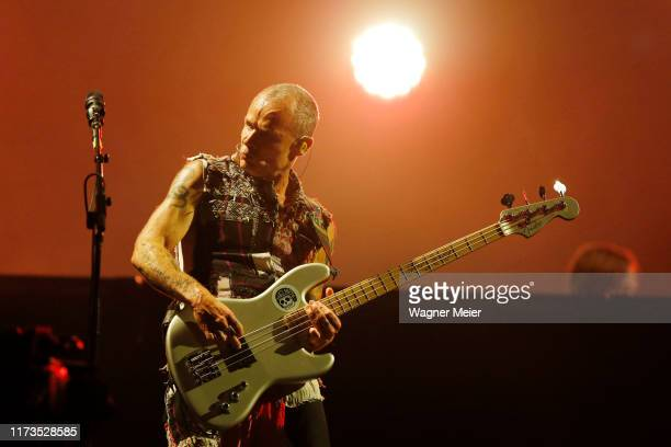 Flea of the Red Hot Chili Peppers performs during Rock in Rio 2019 at Palco Mundo at Cidade do Rock on October 3, 2019 in Rio de Janeiro, Brazil.