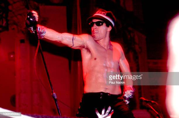 Flea of the Red Hot Chili Peppers performs on stage at the Aragon Ballroom in Chicago Illinois December 6 1991