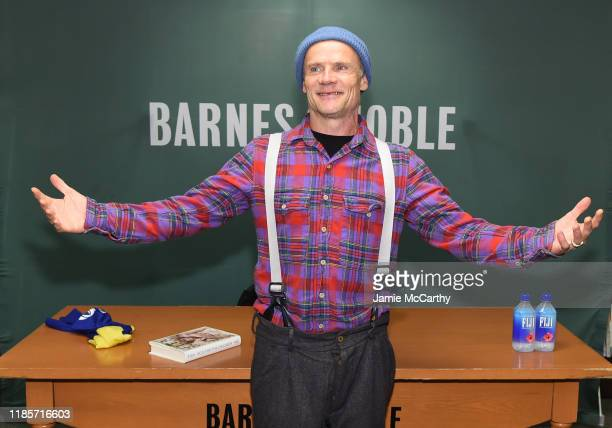 Flea of the Red Hot Chili Peppers signs copies of his new book Acid For The Children at Barnes Noble 5th Avenue on November 05 2019 in New York City