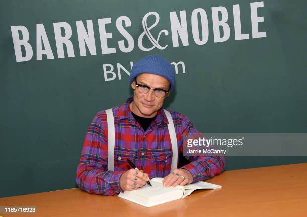 "Flea of the Red Hot Chili Peppers signs copies of his new book ""Acid For The Children"" at Barnes & Noble, 5th Avenue on November 05, 2019 in New York..."