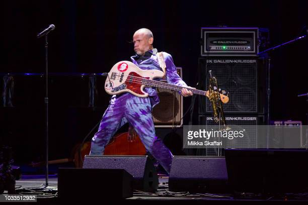 Flea performs at Pathway To Paris event at The Masonic Auditorium on September 14, 2018 in San Francisco, California.