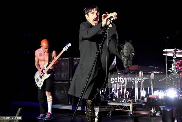 FleaAnthony Kiedis of the Red Hot Chili Peppers performs at Malibu Love Sesh Benefit Concert for victims of the Malibu Fires at the Hollywood...