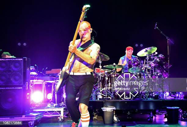 FleaChad Smith of the Red Hot Chili Peppers performs at Malibu Love Sesh Benefit Concert for victims of the Malibu Fires at the Hollywood Palladium...