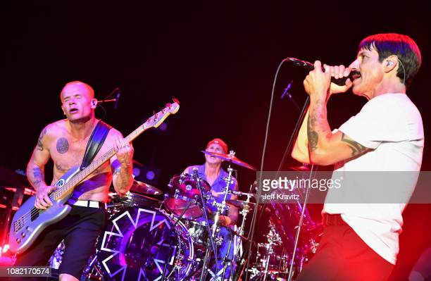 FleaChad SmithAnthony Kiedis of the Red Hot Chili Peppers performs at Malibu Love Sesh Benefit Concert for victims of the Malibu Fires at the...