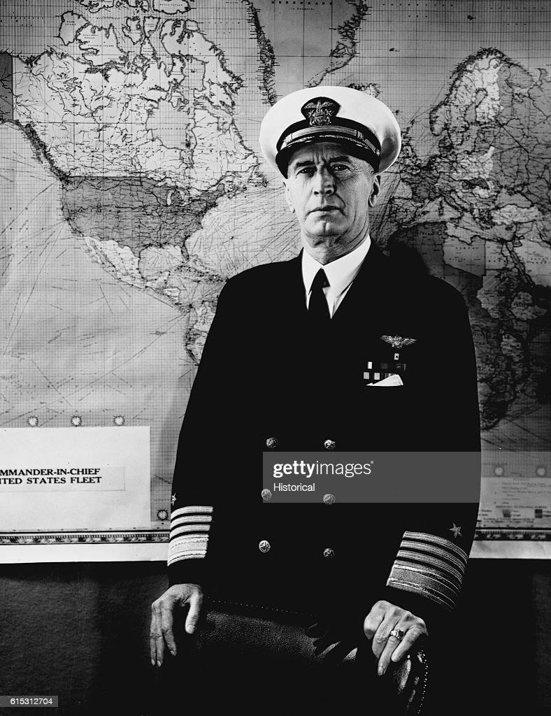 Fleet Admiral Ernest J King Chief Of Naval Operations For The United States Navy