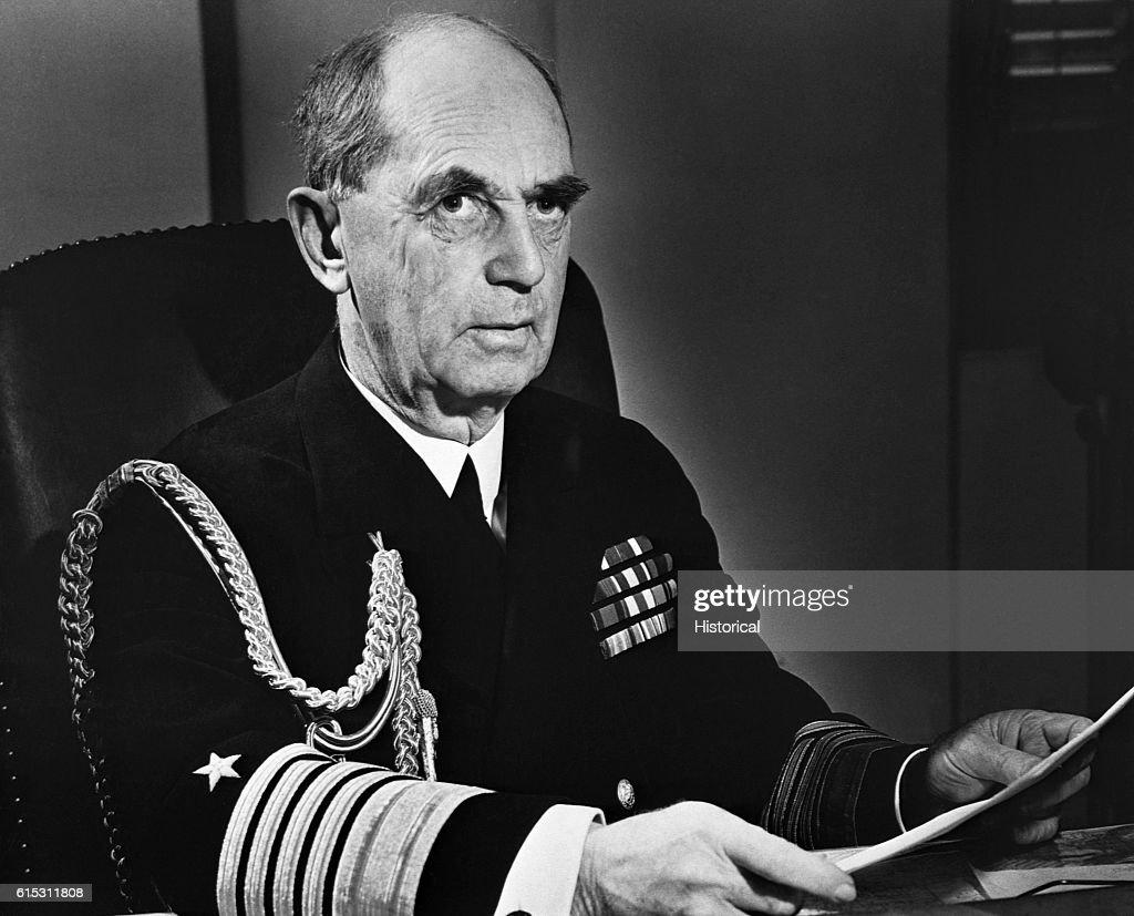 Fleet Admiral William D Leahy News Photo