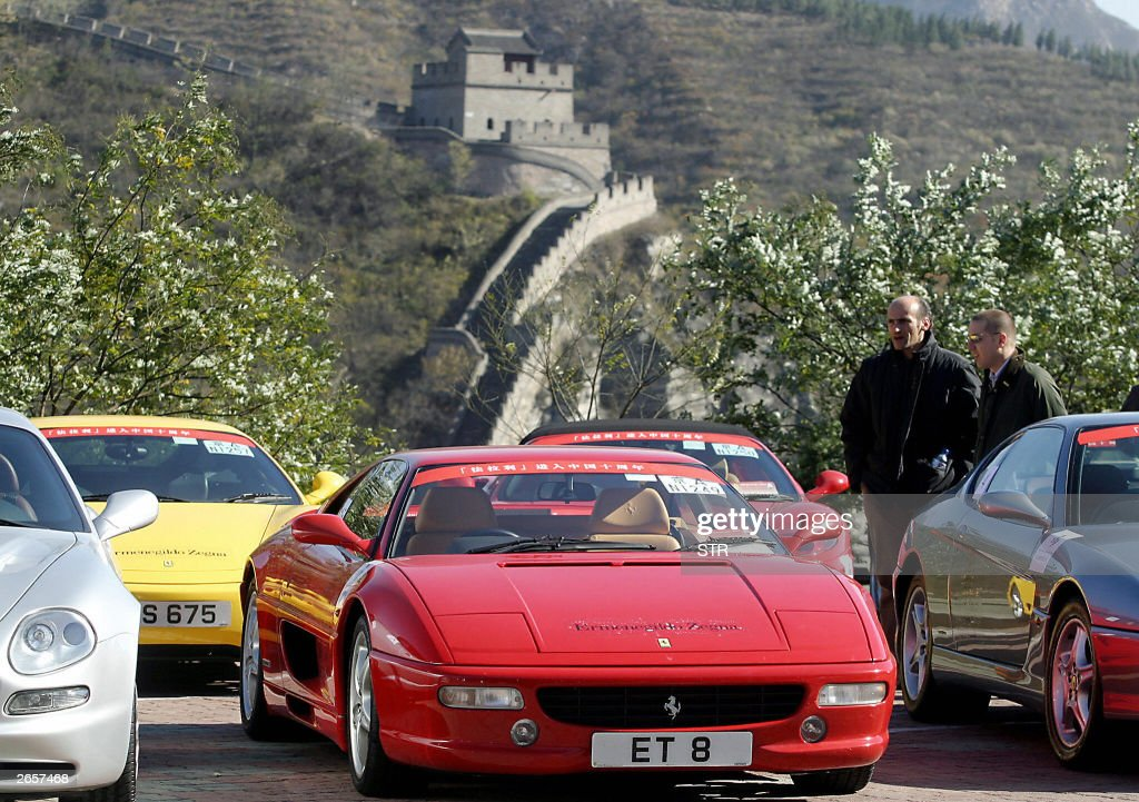 A Fleet Of Ferraris Sports Cars Line Up