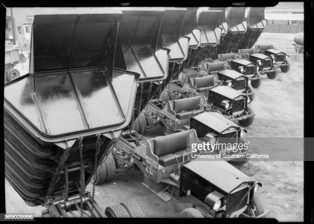 Fleet of McCutchen Transportation Company trucks Vernon California 1932