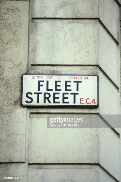 Fleet Street rue où les principaux journaux anglais ont leur siège en janvier 1986 à Londres RoyaumeUni