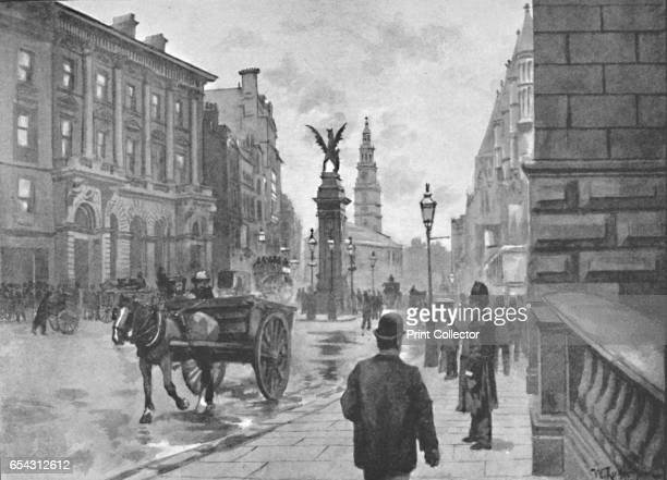 Fleet Street Showing Temple Bar Memorial and Childs Bank 1891 Temple Bar was the principal ceremonial entrance to the City of London on its western...
