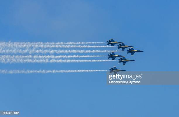 fleet week - blue angels stock pictures, royalty-free photos & images
