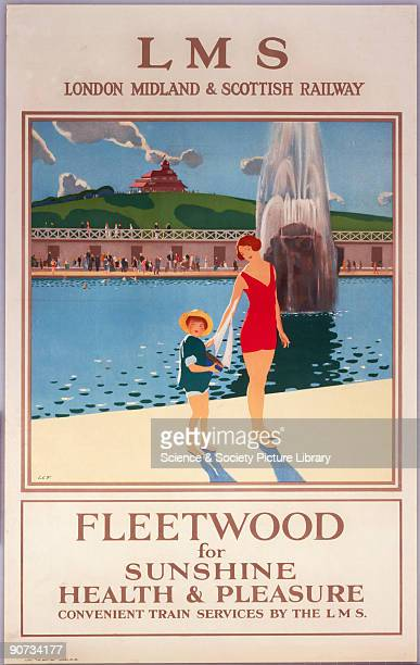 Fleetwood for Sunshine Health Pleasure' LMS poster c1930s Poster produced for the London Midland and Scottish Railway as number 78 in the 'Best Way'...