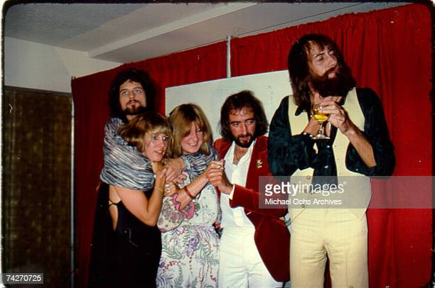 Fleetwood Mac backstage at the Los Angeles Rock Awards on September 1, 1977 in Los Angeles, California.