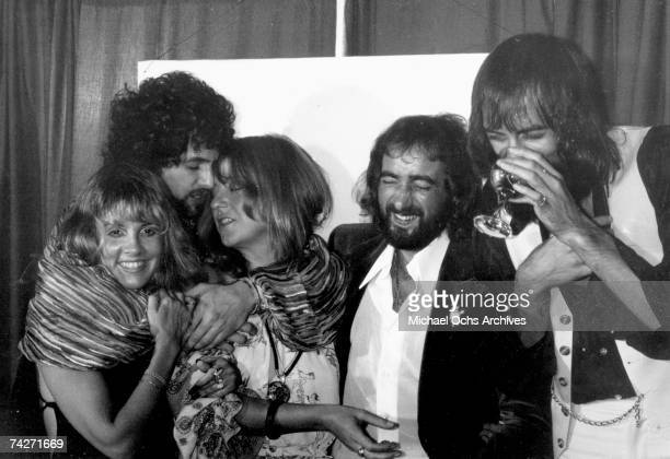 Fleetwood Mac backstage at the Los Angeles Rock Awards on September 1 1977 in Los Angeles California