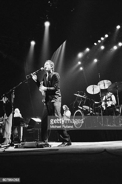 Fleetwood Mac performing at one of six shows at Wembley Arena London between 20th 27th June 1980 Left to right Stevie Nicks Christine McVie Lindsey...