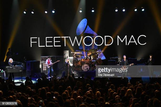 Fleetwood Mac performs onstage during MusiCares Person of the Year honoring Fleetwood Mac at Radio City Music Hall on January 26 2018 in New York City