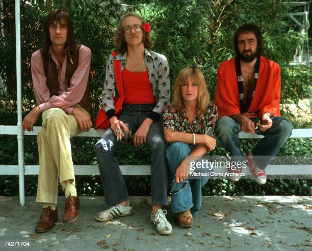 Fleetwood Mac pose for a portrait AUGUST 1974 in Los Angeles California