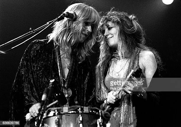 Fleetwood Mac, Rock and Roll Hall of Fame Christine McVie and Stevie Nicks perform at The Omni Coliseum in Atlanta Georgia June 1, 1977
