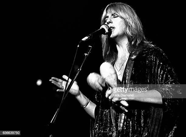 Fleetwood Mac Rock and Roll Hall of Fame Singer/Songwriter Christine McVie performs at The Omni Coliseum in Atlanta Georgia June 1 1977