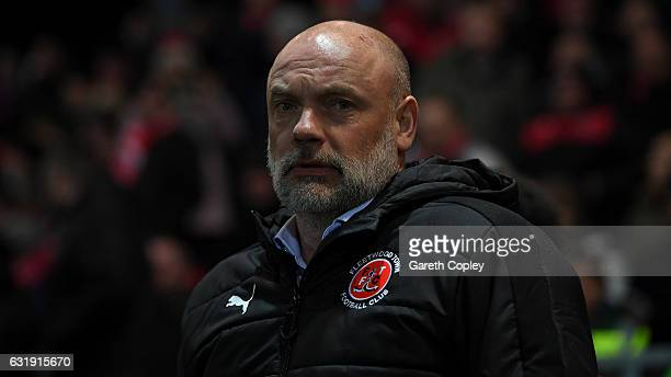 Fleetwood manager Uwe Rosler during The Emirates FA Cup Third Round Replay between Fleetwood Town and Bristol City at Highbury Stadium on January 17...
