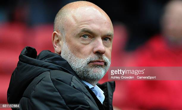 Fleetwood Town manager Uwe Rosler during the Emirates FA Cup Third Round match between Bristol City and Fleetwood Town at Ashton Gate on January 7...