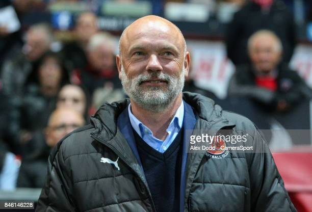 Fleetwood Town manager Uwe Rosler during the Sky Bet League One match between Fleetwood Town and Bury at Highbury Stadium on September 12 2017 in...