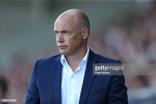 Fleetwood Town manager Uwe Rosler Looks on during the Sky Bet League One match between Northampton Town and Fleetwood Town at Sixfields Stadium on...