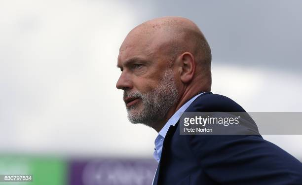 Fleetwood Town manager Uwe Rosler looks on during the Sky Bet League One match between Northampton Town and Fleetwood Town at Sixfields on August 12...