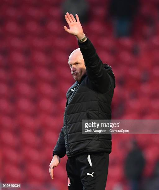 Fleetwood Town manager Uwe Rosler waves the fans following the Sky Bet League One match between Doncaster Rovers and Fleetwood Town at Keepmoat...
