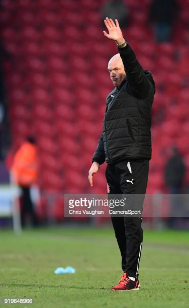Fleetwood Town manager Uwe Rosler waves to the fans following the Sky Bet League One match between Doncaster Rovers and Fleetwood Town at Keepmoat...