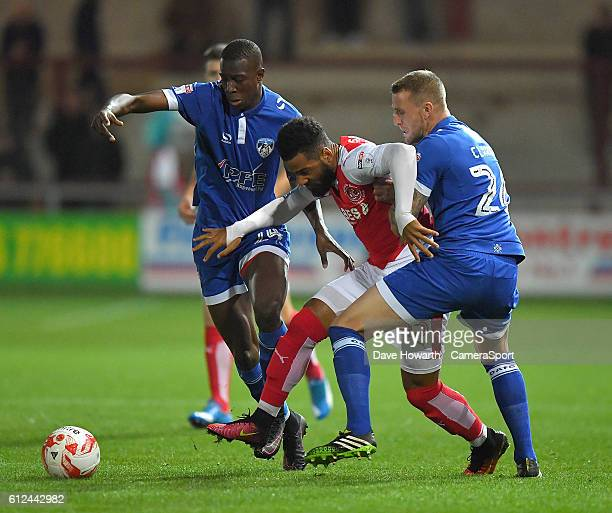 Fleetwood Town's Alex Jakubiak in action during the EFL Checkatrade Trophy match between Fleetwood Town and Oldham Athleticl at Highbury Stadium on...