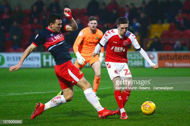 Fleetwood Town's Ashley Hunter scores his side's second goal during the Sky Bet League One match between Fleetwood Town and Doncaster Rovers at...
