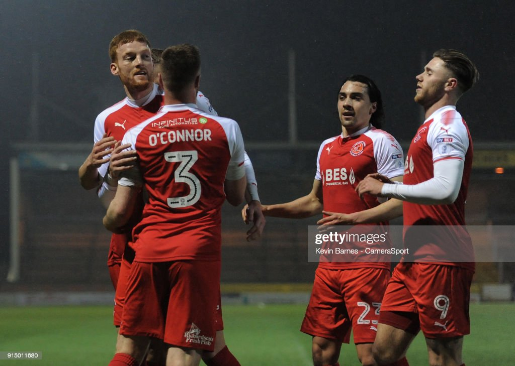 Yeovil Town v Fleetwood Town - Checkatrade Trophy Quater-Final : News Photo