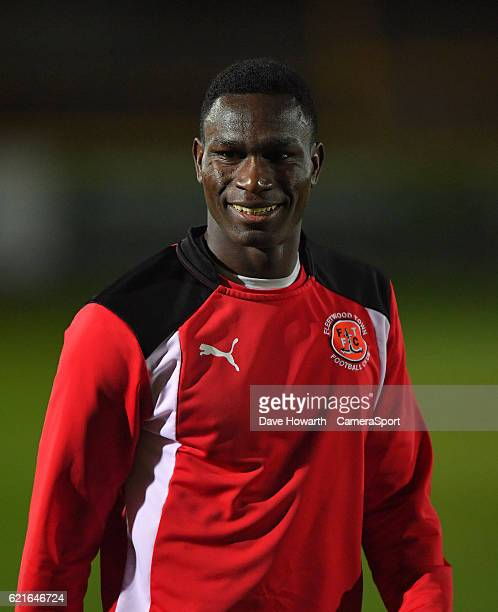Fleetwood Town's Elohor Godswill Ekpolo during the The Emirates FA Cup First Round match between Southport and Fleetwood Town at the Merseyrail...
