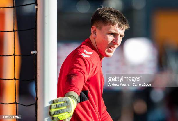 Fleetwood Town's goalkeeper Billy Crellin during the FA Cup First Round match between Barnet and Fleetwood Town at The Hive on November 10, 2019 in...