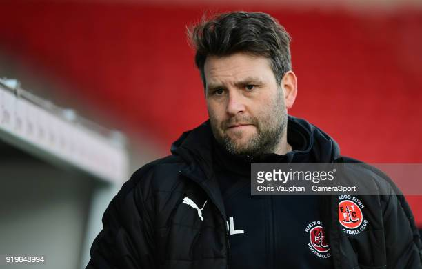 Fleetwood Town's goalkeeping coach David Lucas during the Sky Bet League One match between Doncaster Rovers and Fleetwood Town at Keepmoat Stadium on...