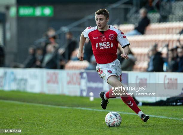 Fleetwood Town's Jordan Rossiter breaks during the FA Cup First Round match between Barnet and Fleetwood Town at The Hive on November 10 2019 in...
