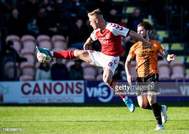 Fleetwood Town's Kyle Dempsey during the FA Cup First Round match between Barnet and Fleetwood Town at The Hive on November 10, 2019 in Barnet,...