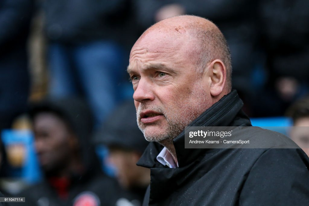 Fleetwood Town's manager Uwe Rosler during the Sky Bet League One match between Gillingham and Fleetwood Town at Priestfield Stadium on January 27, 2018 in Gillingham, .